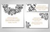 свадебные приглашения — Cтоковый вектор