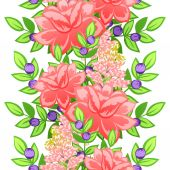 Abstract pattern with floral elements — Stock Vector