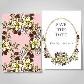 Tarjetas de invitación de boda — Vector de stock