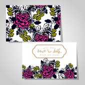 Wedding invitation cards — Stok Vektör