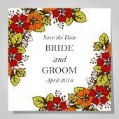 Cartes d'invitation de mariage — Vecteur