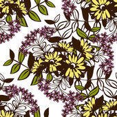 Abstract pattern with floral elements — Vector de stock