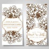 Svatební pozvánky — Stock vektor
