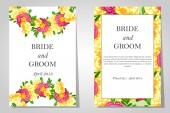 Zaproszenia ślubne — Wektor stockowy