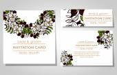 Düğün davetiye — Stok Vektör