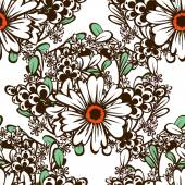 Květinový vzor bezešvé — Stock vektor