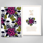 Wedding invitation cards — Vector de stock