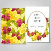 Wedding invitation cards — Stock Vector