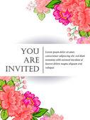 Biglietti invito matrimonio — Vettoriale Stock