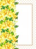 цветочная рамка с местом для текста — Cтоковый вектор