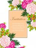 Wedding invitation card — Vector de stock