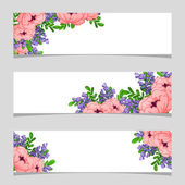 Floral frame with place for text — Stock Vector
