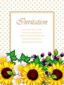 Wedding invitation cards — Cтоковый вектор