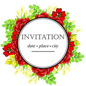 Wedding invitation cards — Vetor de Stock