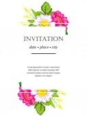 Cartões de convite de casamento — Vetor de Stock
