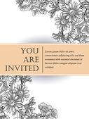 婚礼邀请卡 — 图库矢量图片