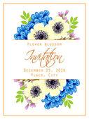 Wedding invitation card — Stock Vector