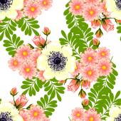 Floral seamless pattern — Stock Vector