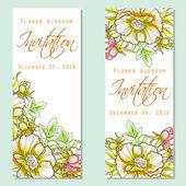 Wedding invitation card — ストックベクタ