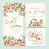 Wedding invitation card — Vettoriale Stock