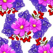 Floral seamless pattern — Vector de stock