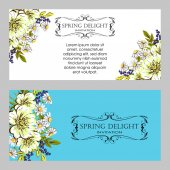 Wedding invitation card — Vector de stock