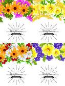 Inbjudningskort med blommig element — Stockvektor