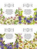 邀请卡与花卉元素 — 图库矢量图片