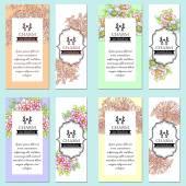 Uitnodigingskaart met florale elementen — Stockvector