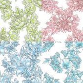 Çiçek seamless modeli — Stok Vektör