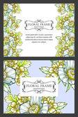 Carte d'invitation avec les éléments floraux — Vecteur