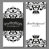 Einladungskarte mit floralen elementen — Stockvektor