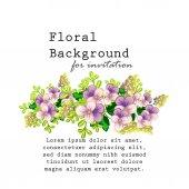 Carta di invito con elementi floreali — Vettoriale Stock