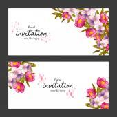 Wedding invitation card — Wektor stockowy
