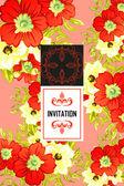 Pozvánka s květinové prvky — Stock vektor