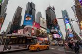 夜在纽约时报广场,纽约曼哈顿中城城市交通 — 图库照片
