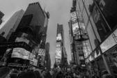 Night Traffic at Times Square, Midtown Manhattan New York City — Stock Photo
