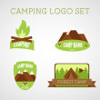 Set of outdoor adventure badges and campsite logo emblems. Summer 2015 stickers. — Stock Vector #62670093