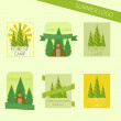 Set of travel and camping logo. Outdoor emblems. Tourism icons — Stock Vector #65757289