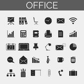 Business and office icons set. Trendy line icons for web and mobile. — Stock Vector