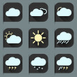 Flat design style weather icons and stickers set. Seasons theme, easy to use as icons, logo on web, mobile app, recolor and resize. — Stock Vector #70171435