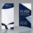 Vector Brochure Flyer design Layout template. Blue dark colors. Triangle abstract style. Isolated on grey background. Vector — Stock Vector #72436071