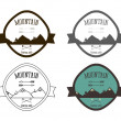 Set of Mountain campsite logo templates. Outdoor Activity Travel Logo Vintage Labels design. Camping Badges Retro style logotype concept icons set. Vector — Stock Vector #74235011