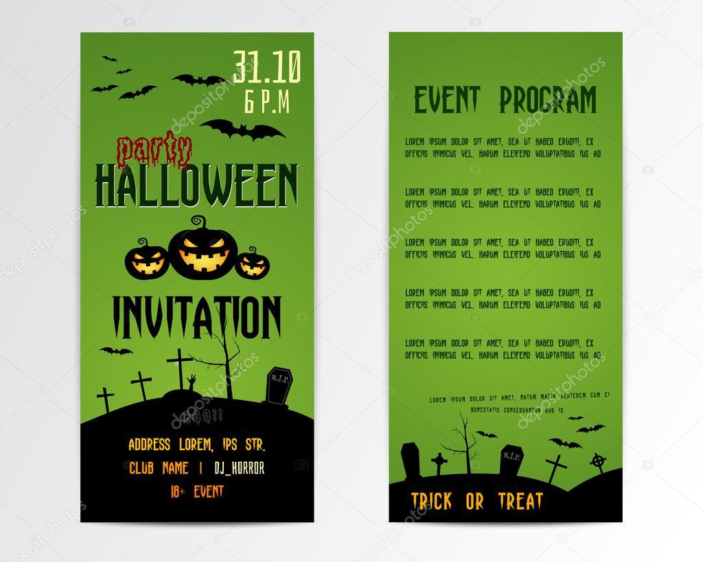 happy halloween gru karten flyer vektor illustration. Black Bedroom Furniture Sets. Home Design Ideas
