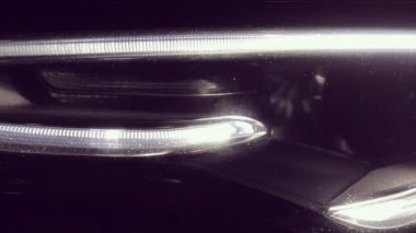 Close up of Audi A5 headlamps — Stock Video