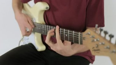 Close up of a guitar playing — Stock Video