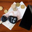 Car keys, phone and money — Stock Photo #67521527