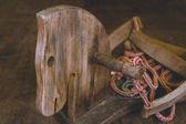 Wooden horse — Stock Photo
