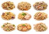 Conjunto de alimentos de pasta diferente. — Foto de Stock
