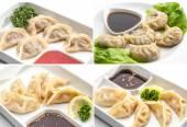 Set of meat dumplings — Stock Photo